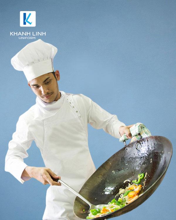 Đồng phục áo đầu bếp nhà hàng mẫu 35