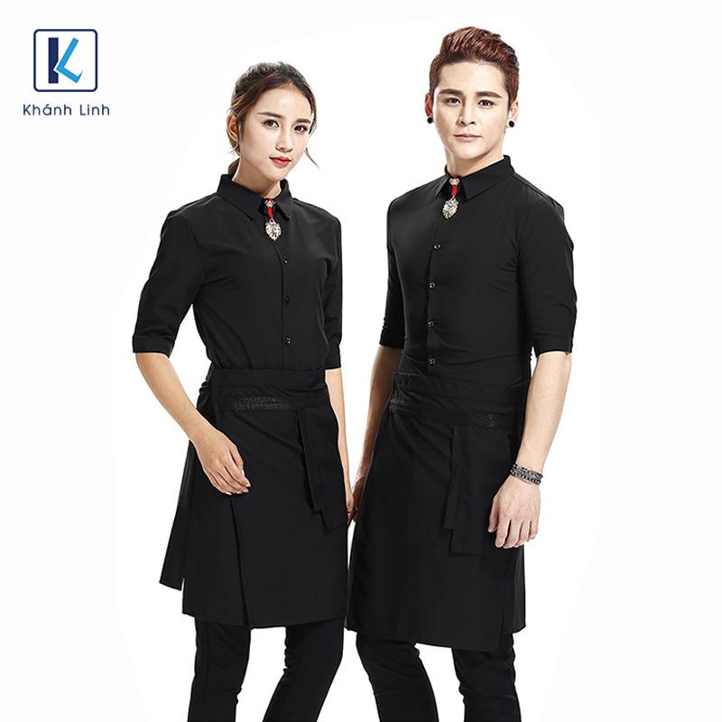 Đồng phục quán cafe mẫu 47 màu đen