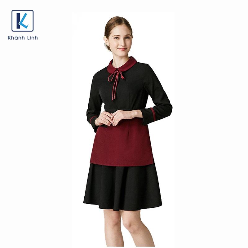 Đồng phục váy quán cafe mẫu 48
